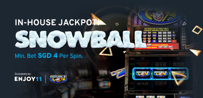 Ultimate Slot In-House Jackpot Snowball Mobile Banner